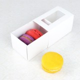 3 White Window Macaron Boxes($1.00/pc x 25 units)