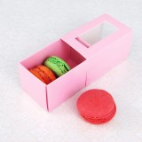 3 Pink Window Macaron Boxes($1.25/pc x 25 units)