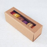 6 Kraft Brown Macaron Boxes($1.60/pc x 25 units)