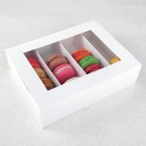 24 Macaron White Window Boxes ($3.60/pc x 25 units)