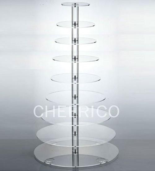10  Tier Acrylic Round Maypole Cupcake Stand Tower Display
