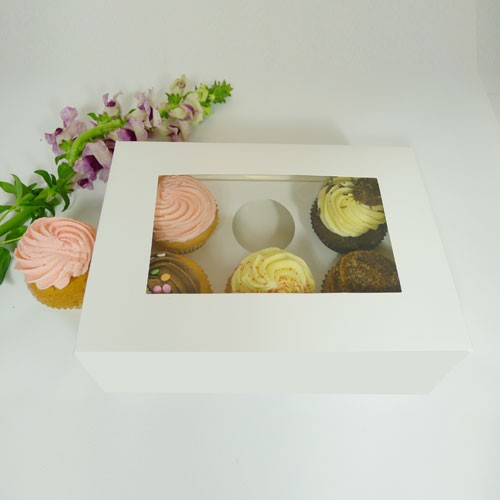 25 sets of Window Cupcake Box with 6 Cupcake Holder($1.40 each set)