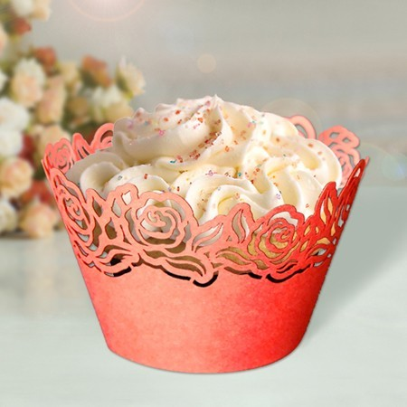 Red Roses Cupcake Wrappers - 12units/pack