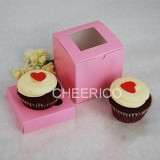 25 sets of PINK Cupcake Box with 1 PINK Cupcake Holder($1.15 each set)