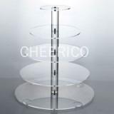 5 Tier Maypole Acrylic Cupcake Stand Tower Display